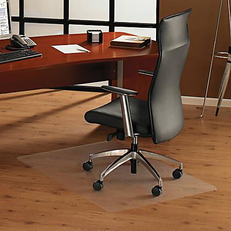 "Floortex ClearTex Ultimat Chair Mat For Hard Floors, Rectangular, 53""W x 48""D, Clear"