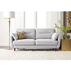 Serta Sierra Collection Sofa Smoke GrayChestnut
