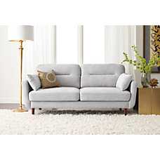 Serta Sierra Collection Sofa Smoke GrayChestnut