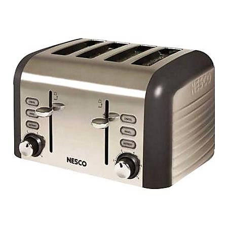 Nesco Four Slice Toaster - (Thunder Grey) - 1600 W - Toast, Bagel, Reheat - Thunder Gray