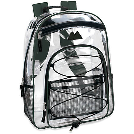 Trailmaker Water-Resistant Clear Backpack, Green