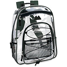 Trailmaker Water Resistant Clear Backpack Green