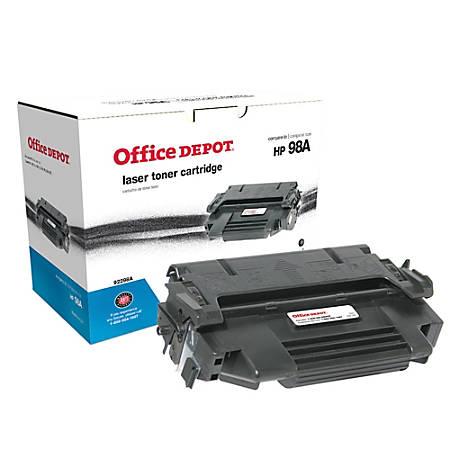 Office Depot® Brand 98A (HP 98A) Remanufactured Black Toner Cartridge