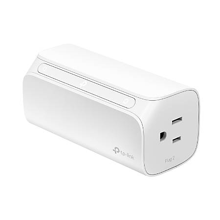TP-Link Kasa 2-Outlet Smart Wi-Fi Plug, White, HS107