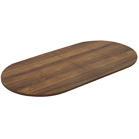 Lorell® Chateau Series Oval Conference Table Top, 8'W, Walnut