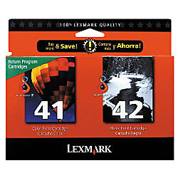 Lexmark 4142 18Y0238 BlackColor Ink Cartridges