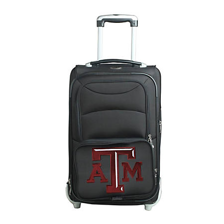 "Denco Sports Luggage NCAA Expandable Rolling Carry-On, 20 1/2"" x 12 1/2"" x 8"", Texas A&M Aggies, Black"
