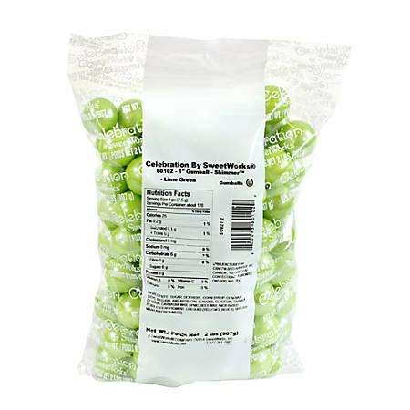 Sweetworks Gumballs, 2-Lb Bag, Lime Green Shimmer