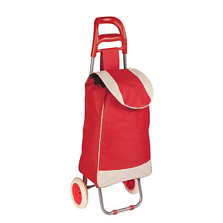 Honey-Can-Do Rolling Knapsack Bag Cart, Red