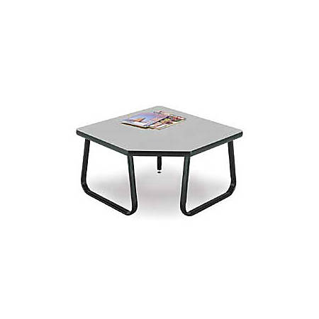 "OFM 30"" x 30"" Corner Table, Gray"
