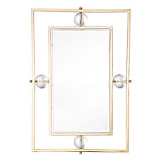 Zuo Modern Floating Rectangle Lucite Mirror