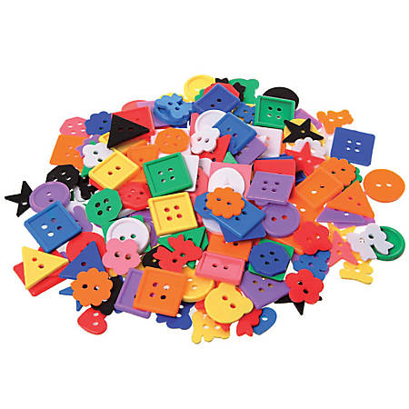 Learning Advantage Assorted Small Buttons, 1 Lb, Assorted Colors, Pack Of 575