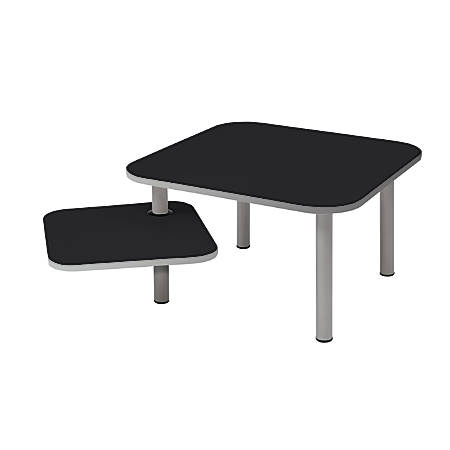 Alba TBZOE1 Coffee Table, Square, Black