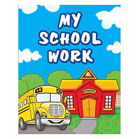 "Teacher Created Resources My School Work Pocket Folders, 9 1/2"" x 12"", Multicolored, Pack Of 10"