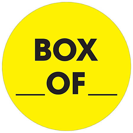 """Tape Logic® Preprinted Special Handling Labels, DL1267, Box Of, Round, 2"""", Fluorescent Yellow, Roll Of 500"""