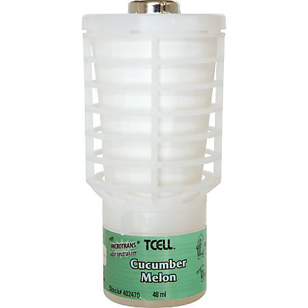 Rubbermaid Commercial TCell Dispenser Fragrance Refill - Gel - 6000 ft³ - Cucumber Melon - 60 Day - 1 Each