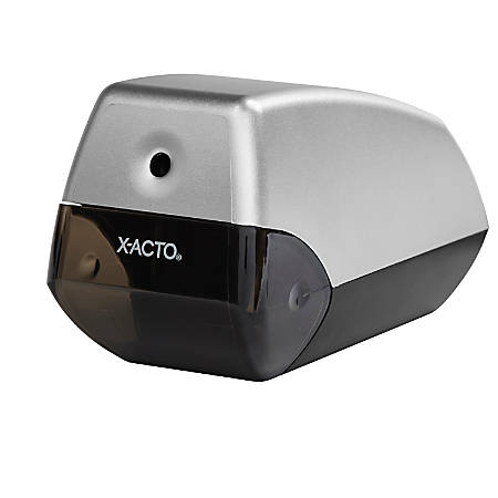 X-ACTO® Helix Electric Pencil Sharpener, Silver/Black