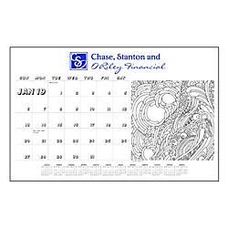Adult Coloring Book Desk Pad Calendar