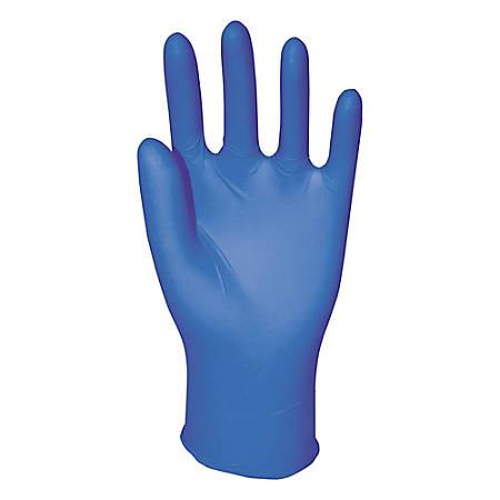 Boardwalk Disposable Nitrile General-Purpose Gloves, Powder-Free, Large, Blue, Box Of 100 Gloves
