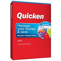 Quicken Deluxe 2019 1-Year Membership (Windows & Mac)