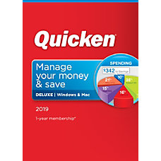 Quicken Deluxe 2019 Personal Finance Software