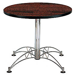 OFM Multipurpose 36 Round Table Mahogany