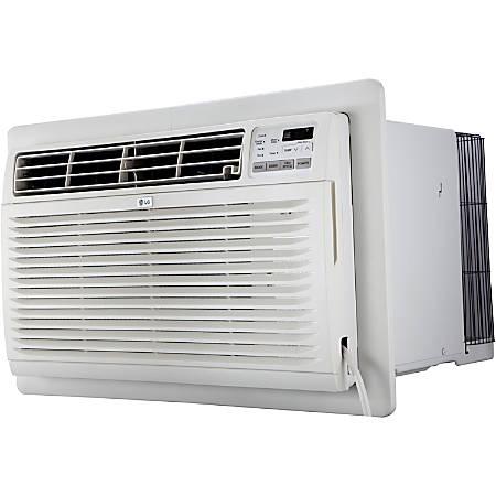 "LG 230V Through-The-Wall Air Conditioner With Heat, 11,200 BTU, 14 7/16""H x 24""W x 20 1/8""D, White"