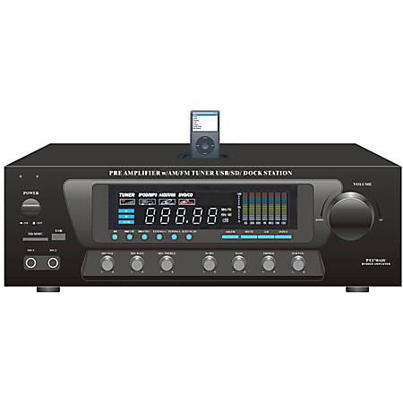 PyleHome PT270AIU AM/FM Receiver - 300 W RMS - 2 Channel - Black