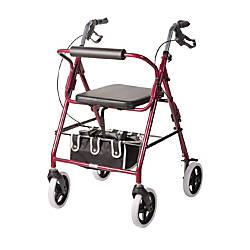 DMI Adjustable Steel Rollator Walker With