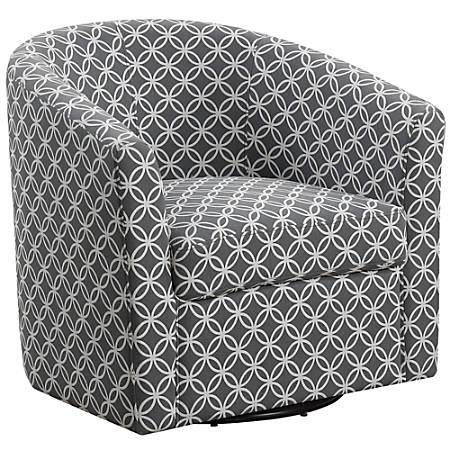 Monarch Specialties Swivel Club Chair, Gray/Black