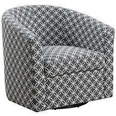 Monarch Specialties Swivel Club Chair GrayBlack