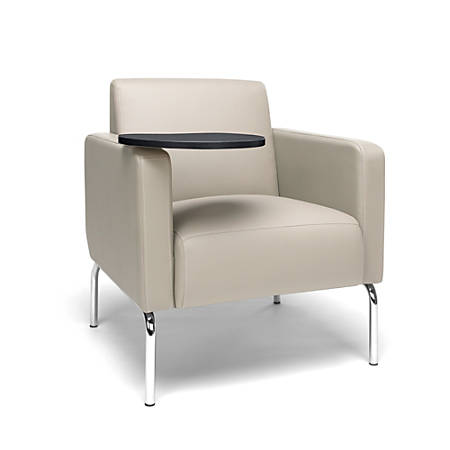 Miraculous Ofm Triumph Series Lounge Chair With Tablet Tungsten Tablet Cream Chrome Item 408333 Ibusinesslaw Wood Chair Design Ideas Ibusinesslaworg
