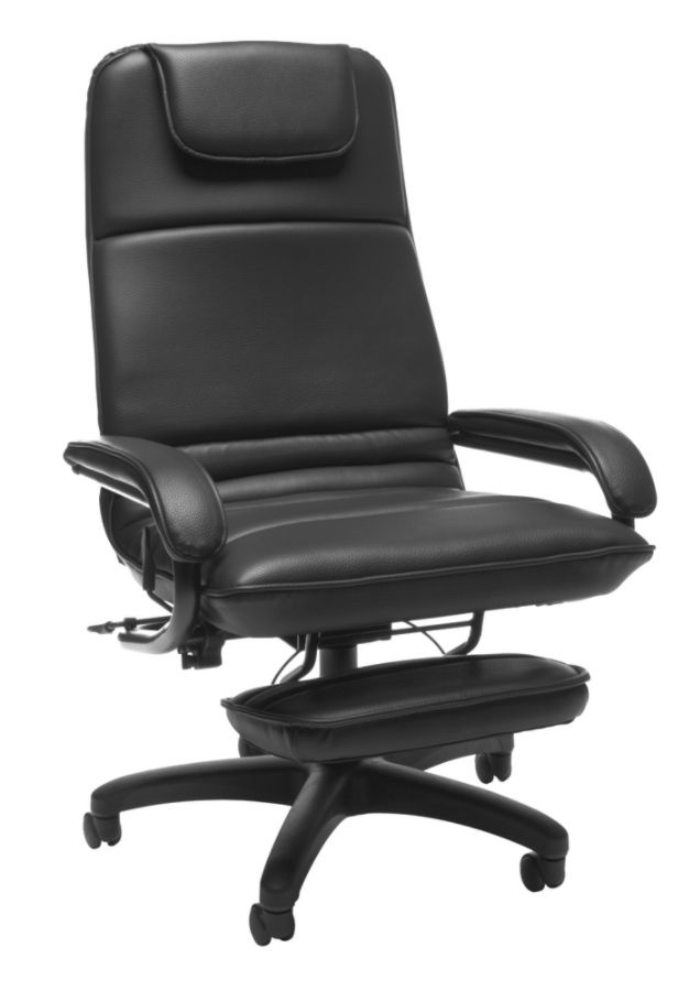 OFM Fabric Reclining Chair 46 H x 26 12 W x 27 D Black by Office