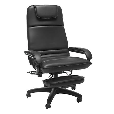 "OFM Fabric Reclining Chair, 46""H x 26 1/2""W x 27""D, Black"