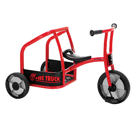 "Winther Circleline Tricycle, Fire Truck, 24 1/16""H x 23 1/4""W x 39 13/16""D, Black/Red"