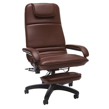 "OFM Fabric Reclining Chair, 46""H x 26 1/2""W x 27""D, Burgundy/Black"