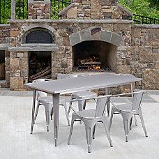 Flash Furniture Commercial Grade Rectangular Metal