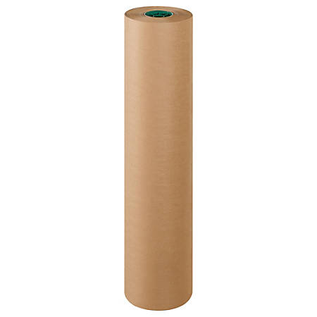"Office Depot® Brand Poly-Coated Kraft Paper, Roll, 36"" x 600', Kraft"