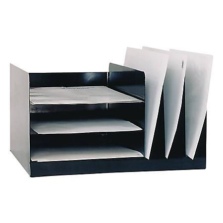 Steel Desk Combo, Black (AbilityOne 7520-01-452-1564)