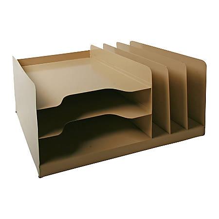 Steel Desk Combo, Beige (AbilityOne 7520-01-452-1563)