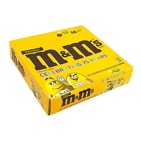 M&M's® Peanut Chocolate Candies, 1.74 Oz, Box Of 48