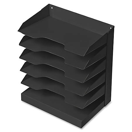 Steel Horizontal File, 6 Shelf, Black (AbilityOne 7520-01-457-0719)