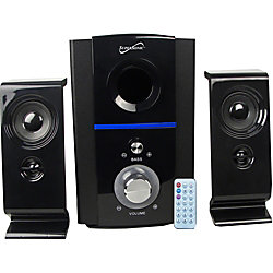 Supersonic SC-1126 2.1 Bluetooth Speaker System - 25 W RMS - 18 Hz to 50 Hz - USB