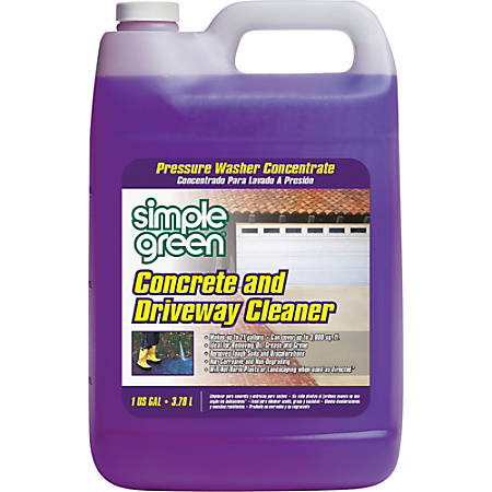 Simple Green Concrete/Driveway Cleaner Concentrate - Concentrate Liquid - 1 gal (128 fl oz) - 1 Each - Purple