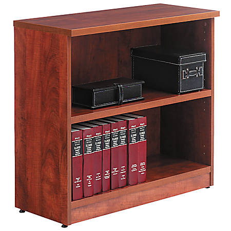 Alera® Valencia Series Bookcase/Storage Cabinet, 2 Shelves, Medium Cherry