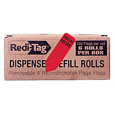 Redi Tag Sign Here Reversible Red