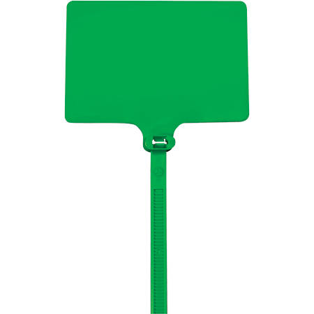 """Office Depot® Brand Identification Cable Ties, 6"""", Green, Case Of 100"""
