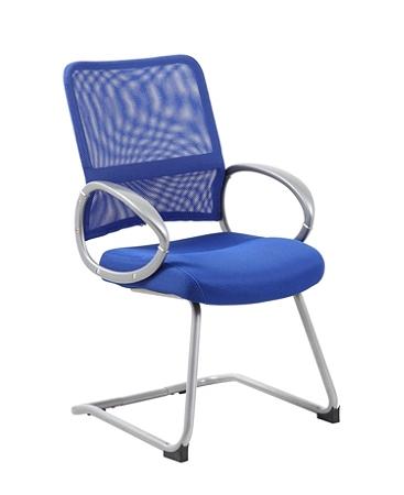 Boss Mesh Guest Chair, Blue/Pewter