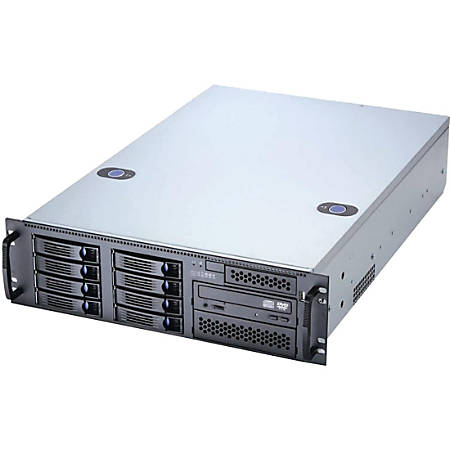 """Chenbro 3U General Purpose Server Chassis - Rack-mountable - Black - Steel, Acrylonitrile Butadiene Styrene (ABS) - 3U - 12 x Bay - 4 x 3.15"""" x Fan(s) Installed - 2 x 620 W - Power Supply Installed - SSI EEB Motherboard Supported - 29.10 lb - 6 x Fan(s)"""