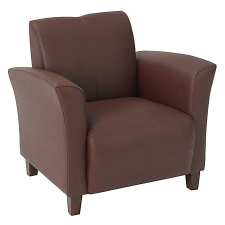 Office Star™ Breeze Eco-Leather Club Chair, Wine